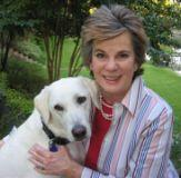 Jo Bess Jackson with pet dog.